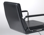 Gloss-Black fibreglass backrest shell